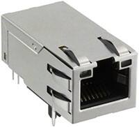 Image of Molex's MXMag Single-Port RJ45 Magnetic Jacks